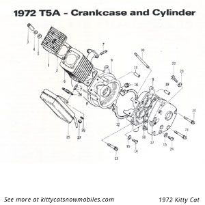 72 crankcase and cylinder parts