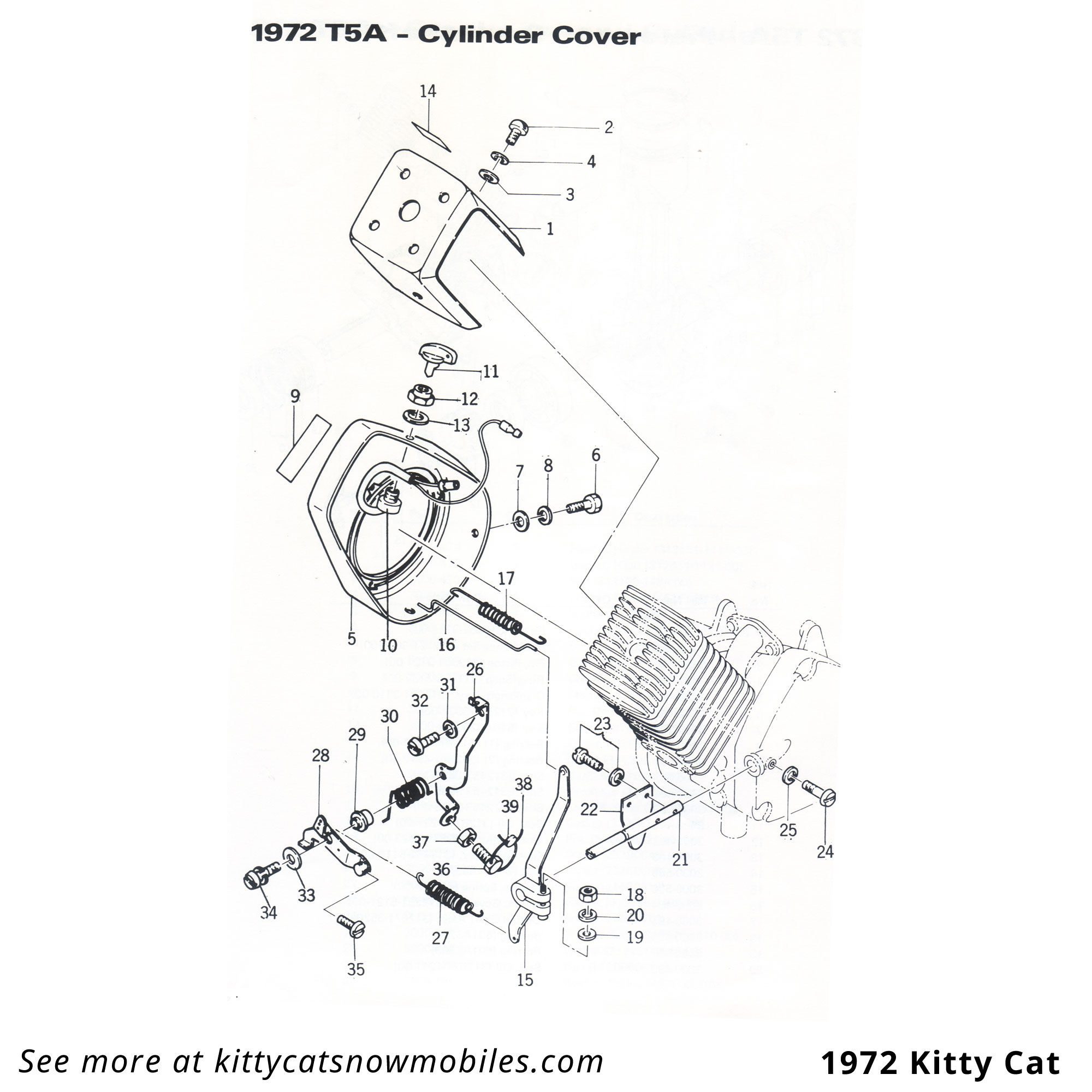 72 cylinder cover parts