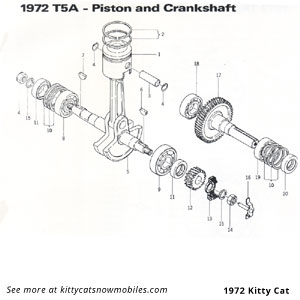 72 piston crankshaft parts