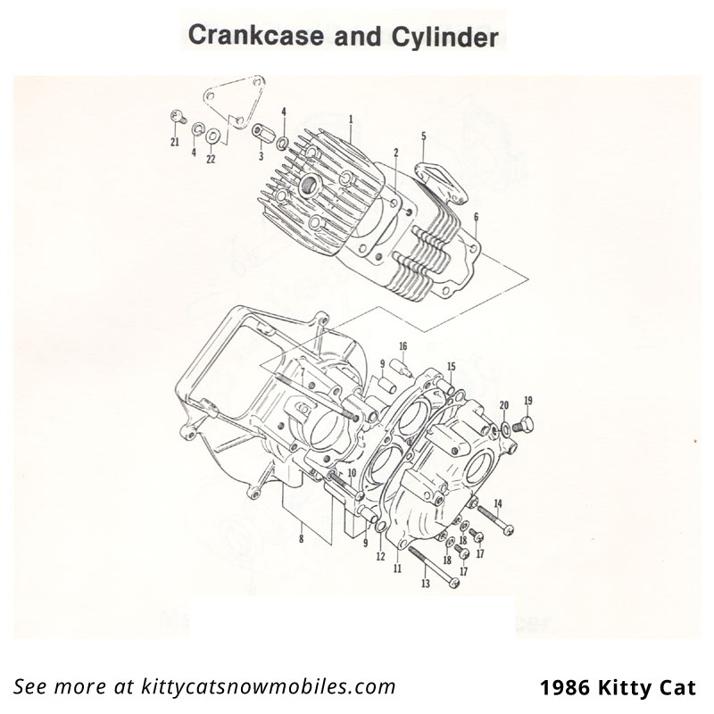 86 Crankcase and Cylinder parts