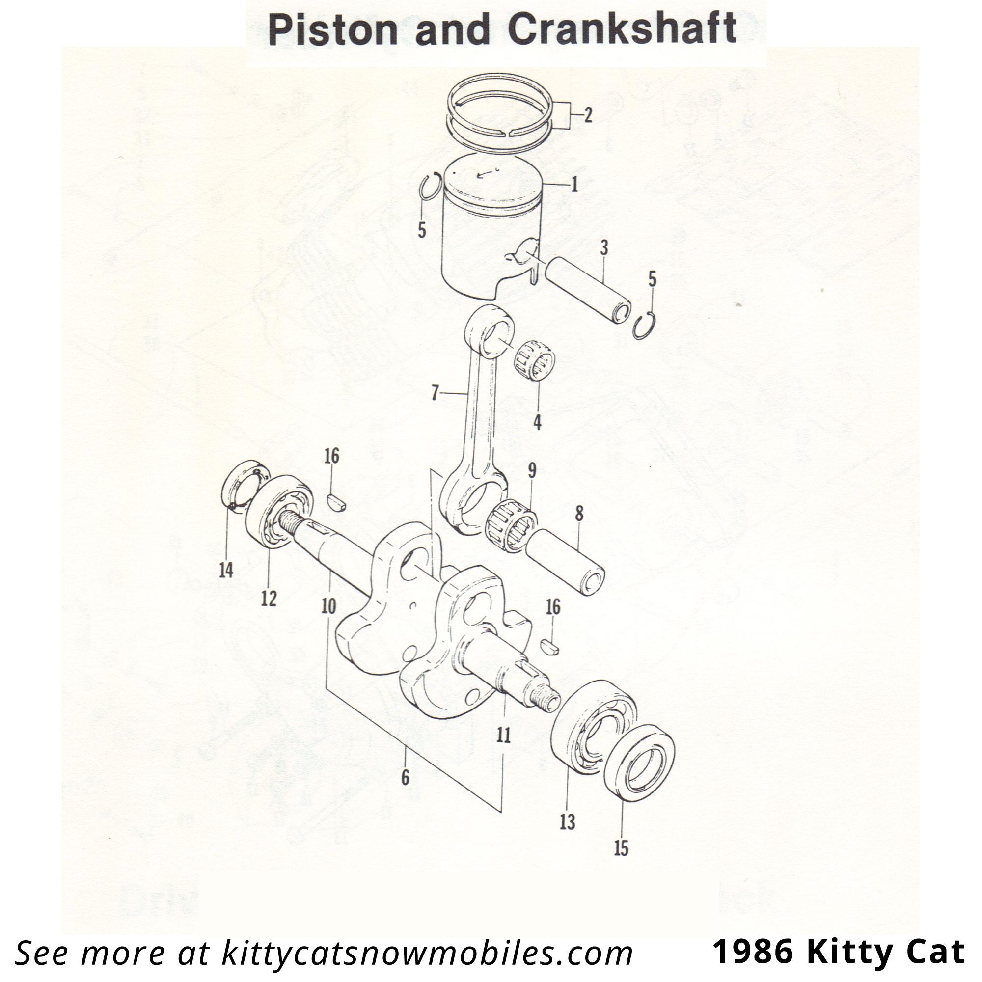 86 Piston and Crankshaft parts