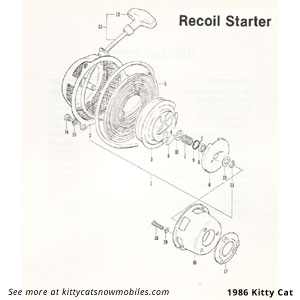 86 Cat Recoil Starter Parts