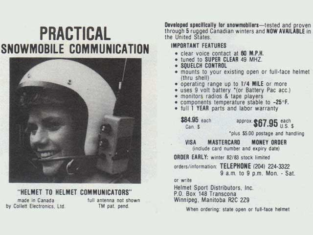 1982 helmet communicator
