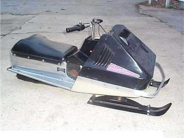 original 72 Kitty snowmobile