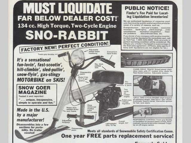 Sno Rabbit ad