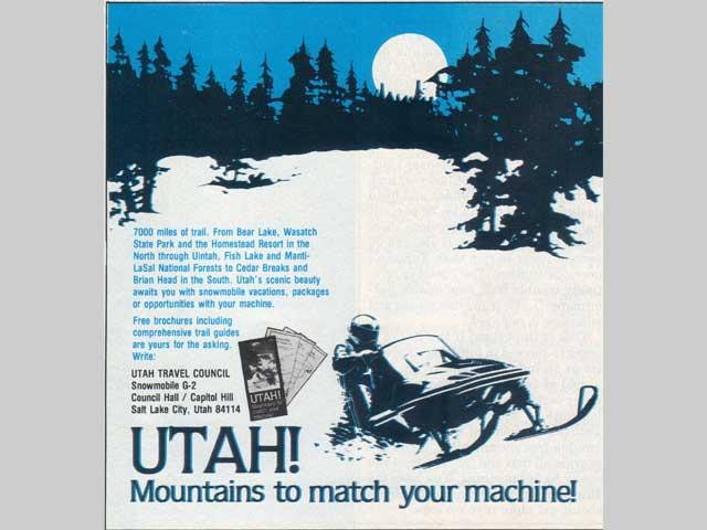Utah snowmobiling ad