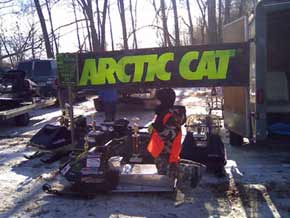 random Kitty Cat snowmobile