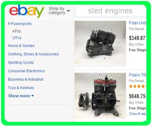 Snowmobile Engines - Complete or Engine Parts